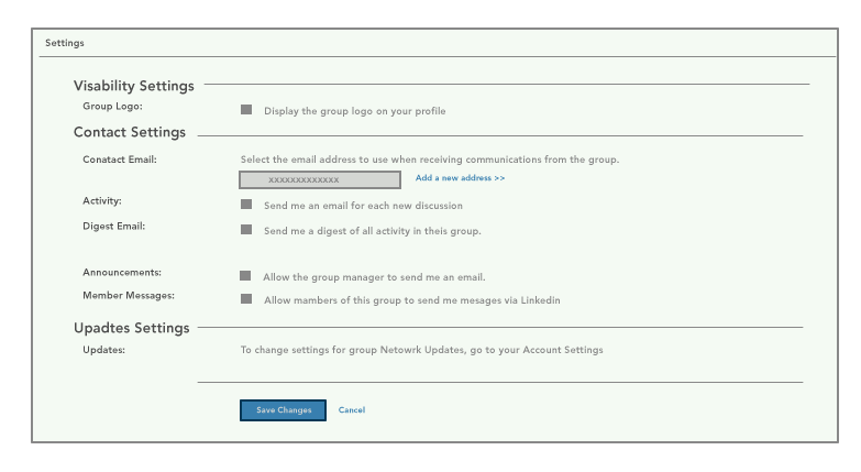 linkedin group privacy settings