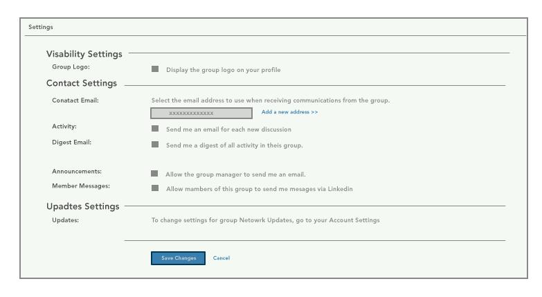 linkedin group privacy settings