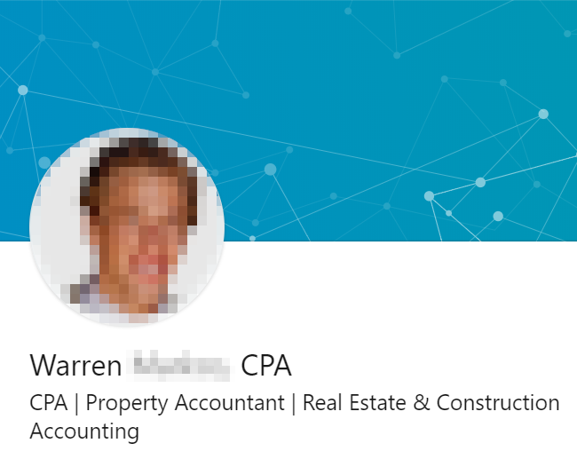 Property accountant LinkedIn Headline example